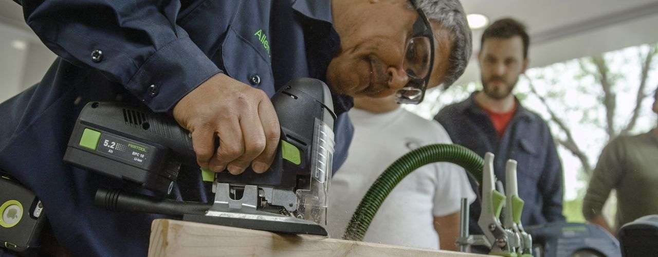 Festool demonstration at National Lumber's Newton store event